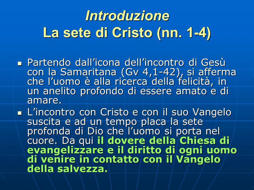 Introduzione La sete di Cristo (nn.