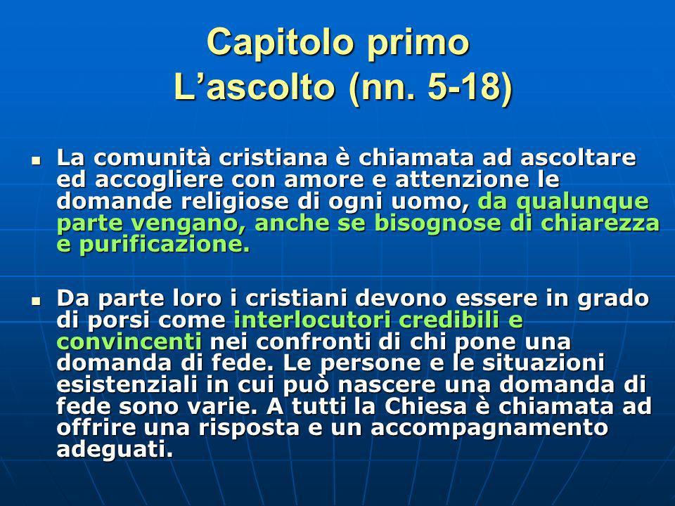 Capitolo primo Lascolto (nn.