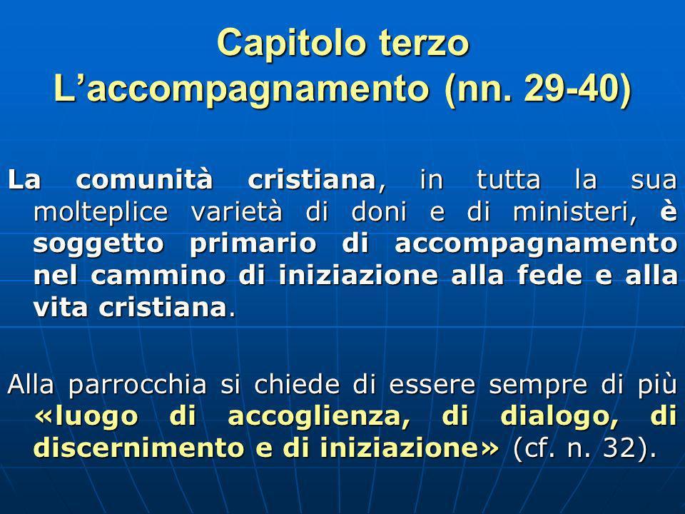 Capitolo terzo Laccompagnamento (nn.