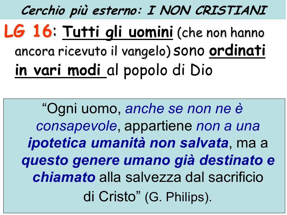 LG 16: (che non hanno ancora ricevuto il vangelo) LG 16: Tutti gli uomini (che non hanno ancora ricevuto il vangelo) sono ordinati in vari modi al pop
