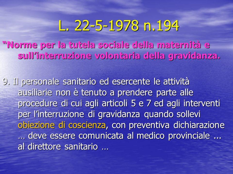 L. 22-5-1978 n.194 L.