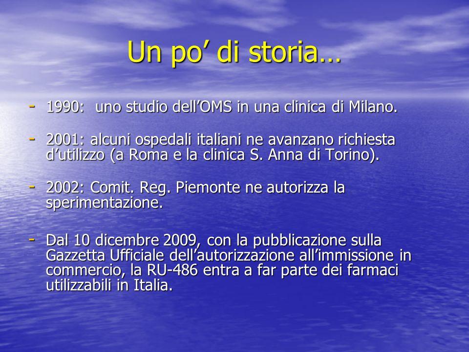 Un po di storia… - 1990: uno studio dellOMS in una clinica di Milano.