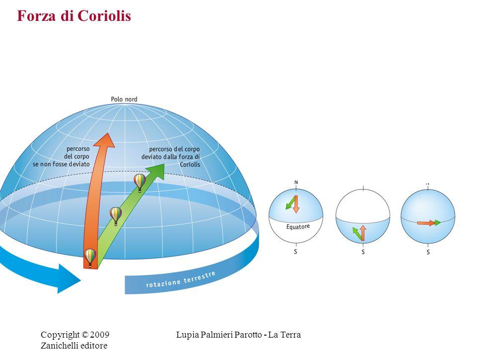 Copyright © 2009 Zanichelli editore Lupia Palmieri Parotto - La Terra Forza di Coriolis