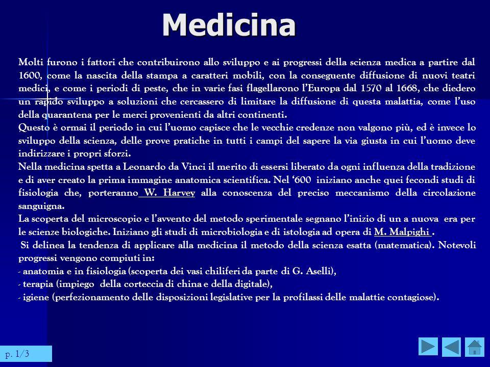 Molti furono i fattori che contribuirono allo sviluppo e ai progressi della scienza medica a partire dal 1600, come la nascita della stampa a caratter