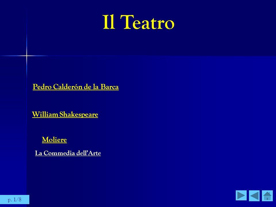 Il Teatro Pedro Calderón de la Barca William Shakespeare Moliere La Commedia dellArte p. 1/8