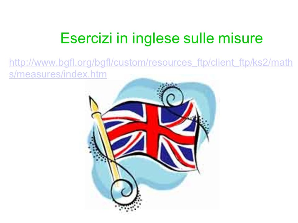 http://www.bgfl.org/bgfl/custom/resources_ftp/client_ftp/ks2/math s/measures/index.htm Esercizi in inglese sulle misure