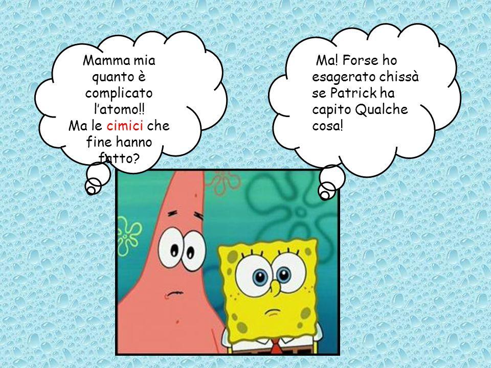 Mamma mia quanto è complicato latomo!! Ma le cimici che fine hanno fatto? Ma! Forse ho esagerato chissà se Patrick ha capito Qualche cosa!