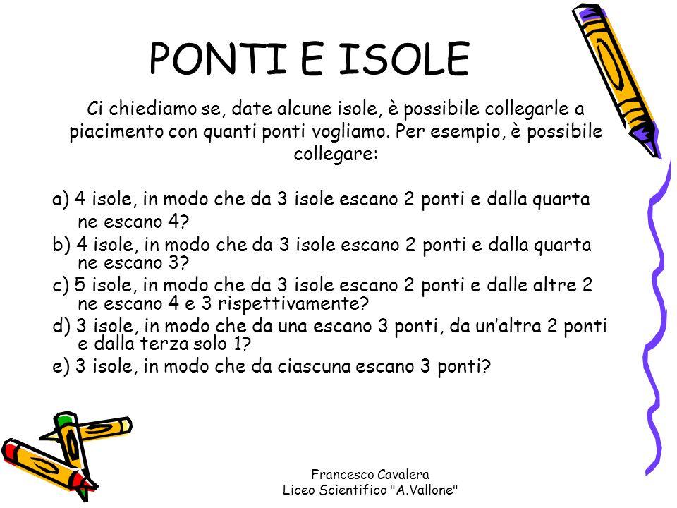 A mentre se inizia fuori da A termina pure fuori da A Francesco Cavalera Liceo Scientifico A.Vallone