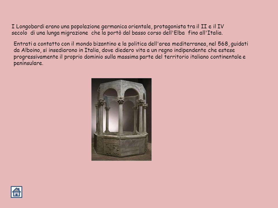 I Longobardi erano una popolazione germanica orientale, protagonista tra il II e il IV secolo di una lunga migrazione che la portò dal basso corso dell Elba fino all Italia.