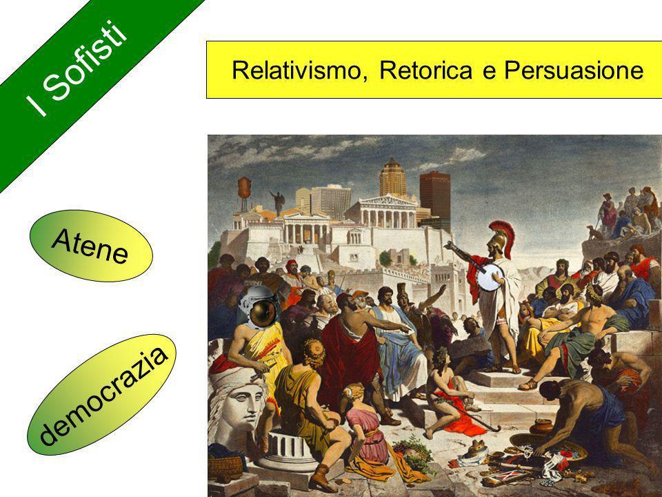 I Sofisti Relativismo, Retorica e Persuasione Atene democrazia