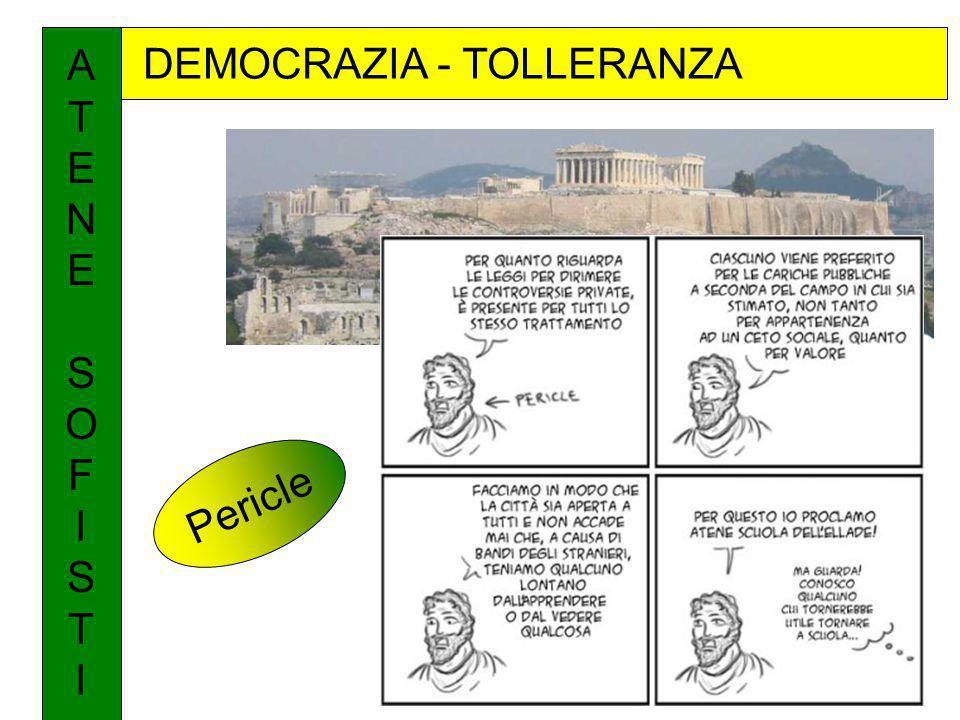 DEMOCRAZIA - TOLLERANZA ATENESOFISTIATENESOFISTI Pericle
