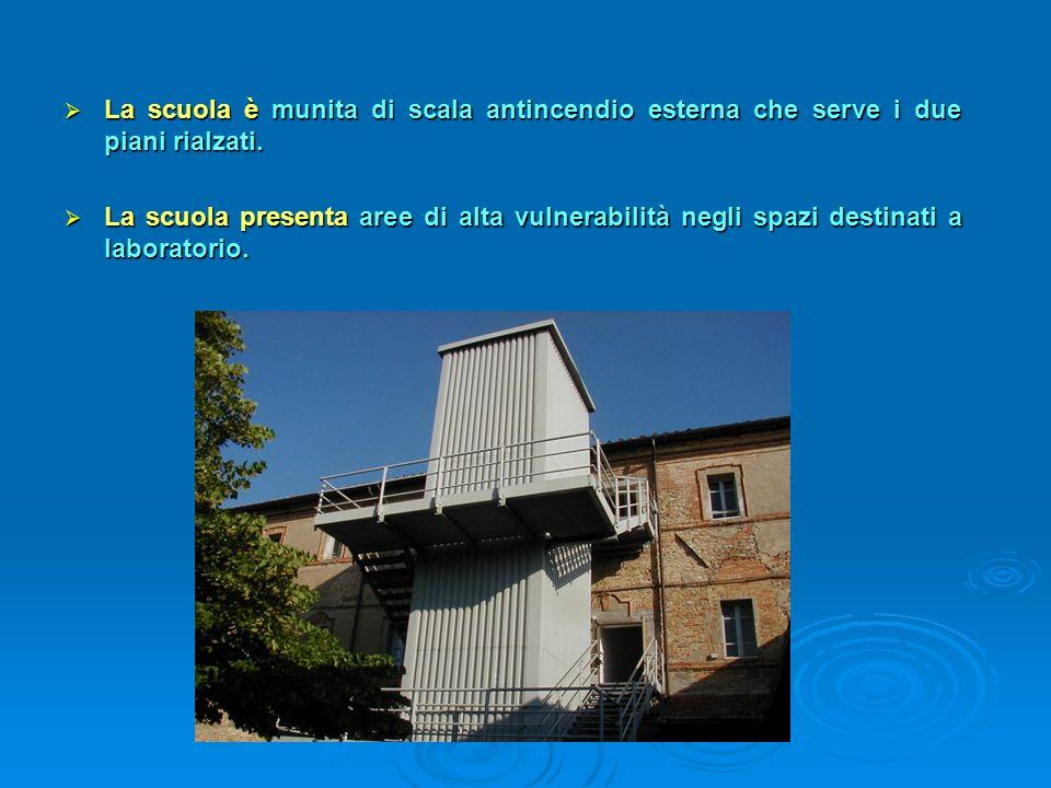 La scuola ha tre piani fuori terra: La scuola ha tre piani fuori terra: al piano terreno, entrando, troviamo un atrio con un rampa di scale per accede