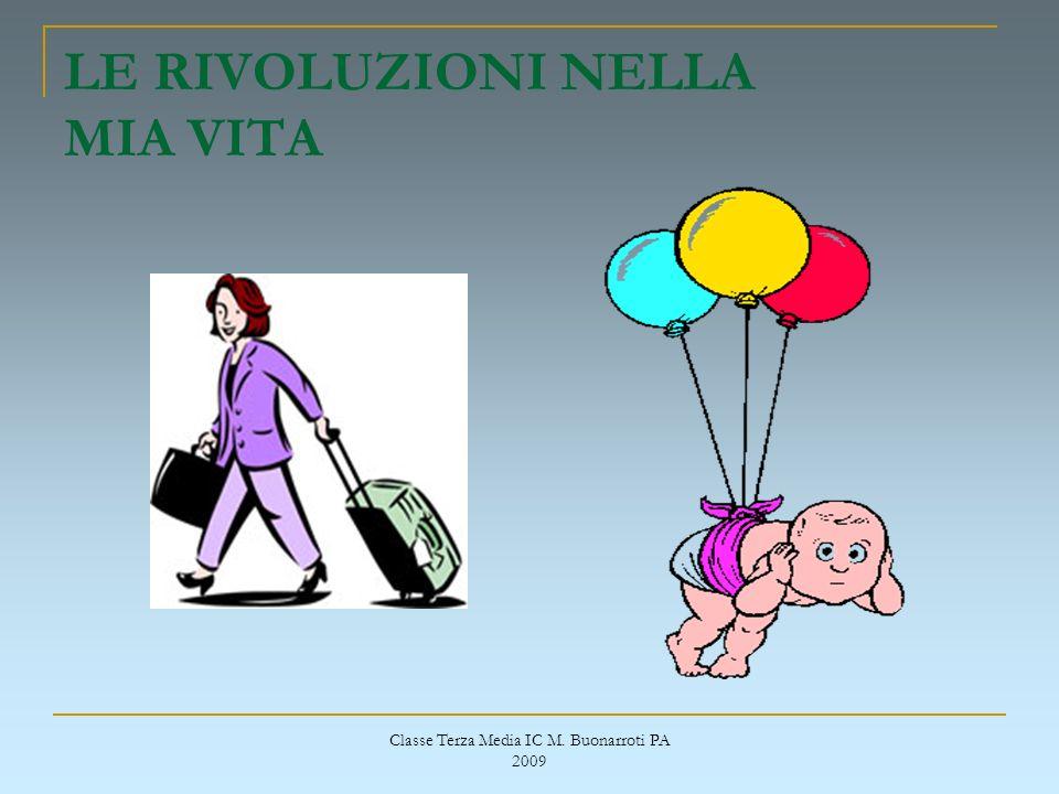 Classe Terza Media IC M. Buonarroti PA 2009 LE RIVOLUZIONI NELLA MIA VITA