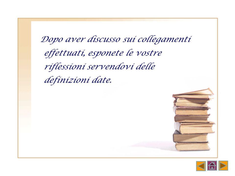 Collegate ogni parola chiave alle sue definizioni Classico Autore Biblioteca Moderno Libro Specchio di Mnemosyne (Memoria) C L Luogo di dialogo tra pr