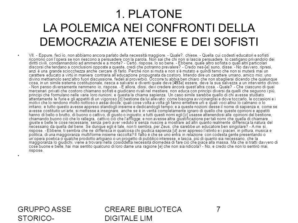GRUPPO ASSE STORICO- SOCIALE A036/37 CREARE BIBLIOTECA DIGITALE LIM 7 1.