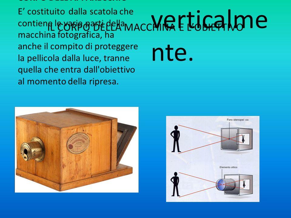 IL CORPO DELLA MACCHINA E LOBIETTIVO CORPO DELL'APPARECCHIO E costituito dalla scatola che contiene le varie parti della macchina fotografica, ha anch