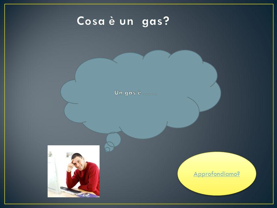 Come si comporta un gas.Cosa accade se aumentiamo la temperatura.