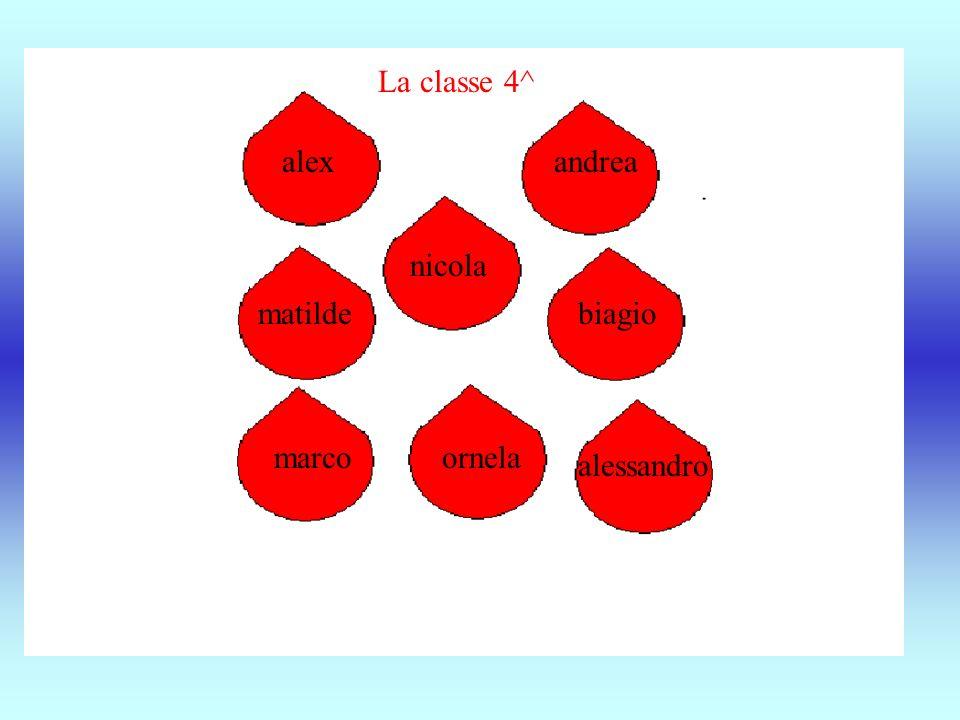 alex nicola marcoornela matilde andrea alessandro biagio La classe 4^