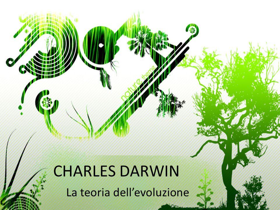CHARLES DARWIN La teoria dellevoluzione