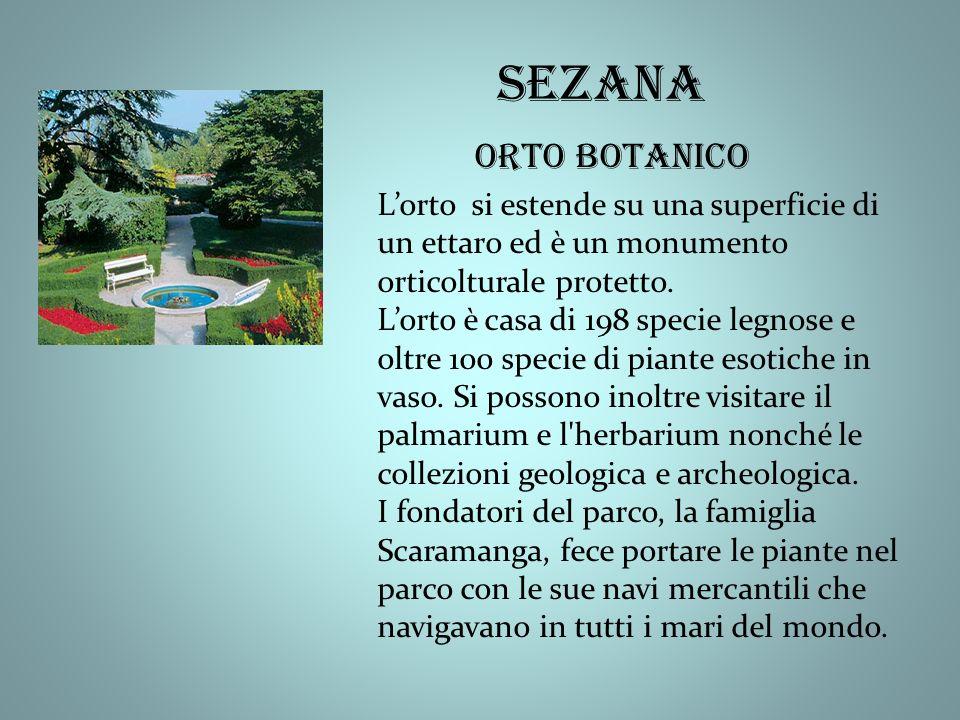 Lorto si estende su una superficie di un ettaro ed è un monumento orticolturale protetto.