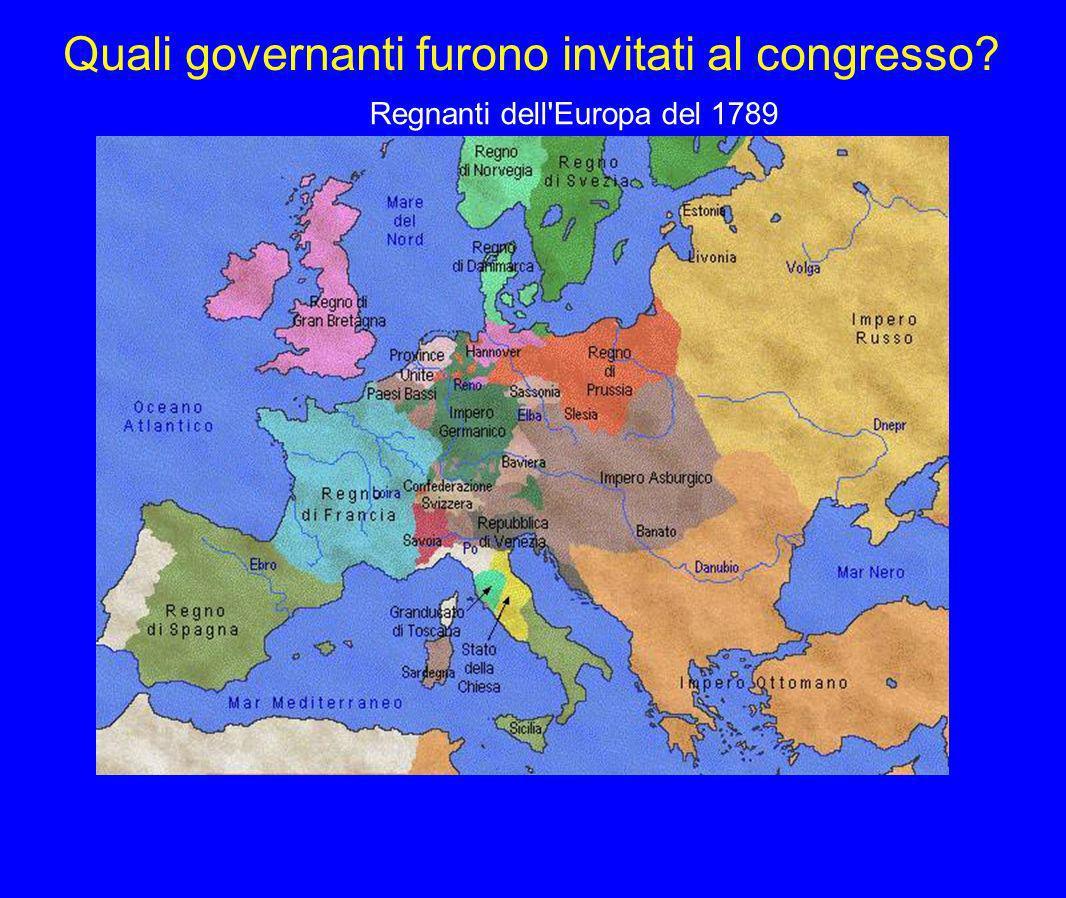 Congresso di Vienna 9 giugno 1814 2 OBIETTIVI PACE DURATURA RESTAURAZIONE DEI GOVERNI LEGITTIMI AUSTRIA-PRUSSIA RUSSIA PRINCIPIO DI LEGITTIMITA PRINCIPIO DI EQUILIBRIO SANTA ALLEANZA