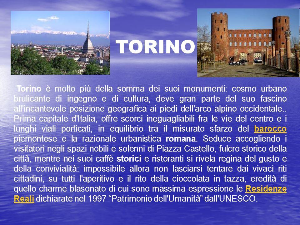 Torino è molto più della somma dei suoi monumenti: cosmo urbano brulicante di ingegno e di cultura, deve gran parte del suo fascino all incantevole posizione geografica ai piedi dell arco alpino occidentale..