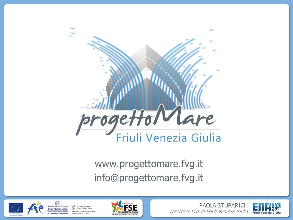 PAOLA STUPARICH Direttrice ENAIP Friuli Venezia Giulia www.progettomare.fvg.it info@progettomare.fvg.it