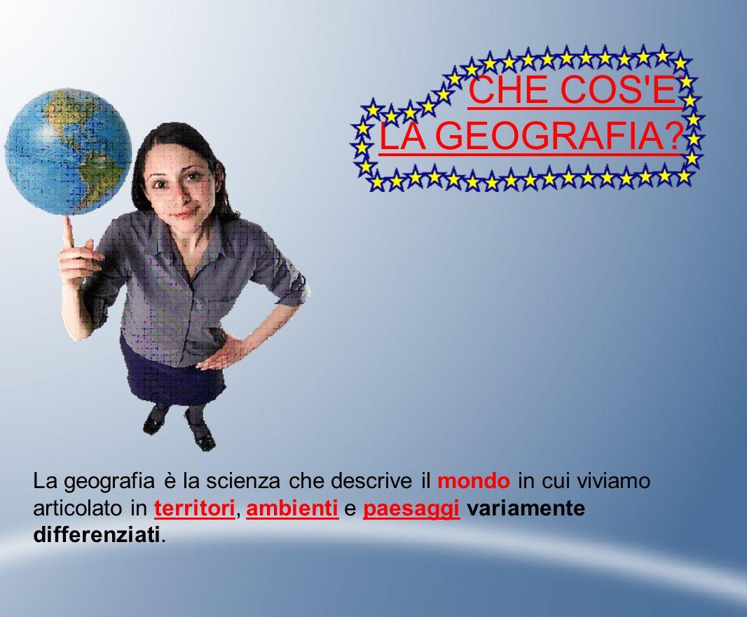 GEOGRAFIA E TERRITORIO Un territorio è uno spazio terrestre organizzato e delimitato dall uomo.