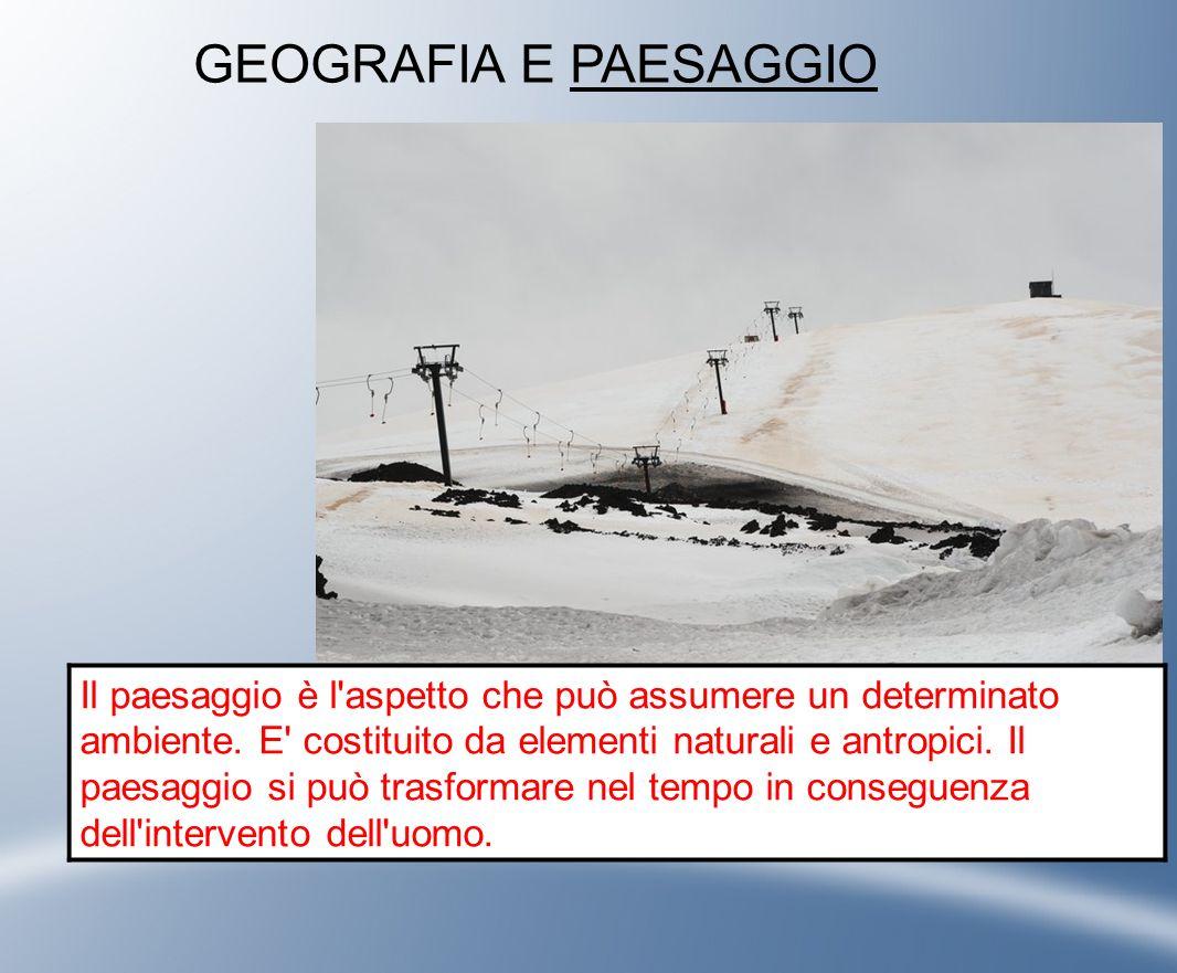 La Geografia ·descrive il mondo nei suoi differenti paesaggi; ·ne studia le trasformazioni nel tempo; ·ricerca le cause delle trasformazioni;