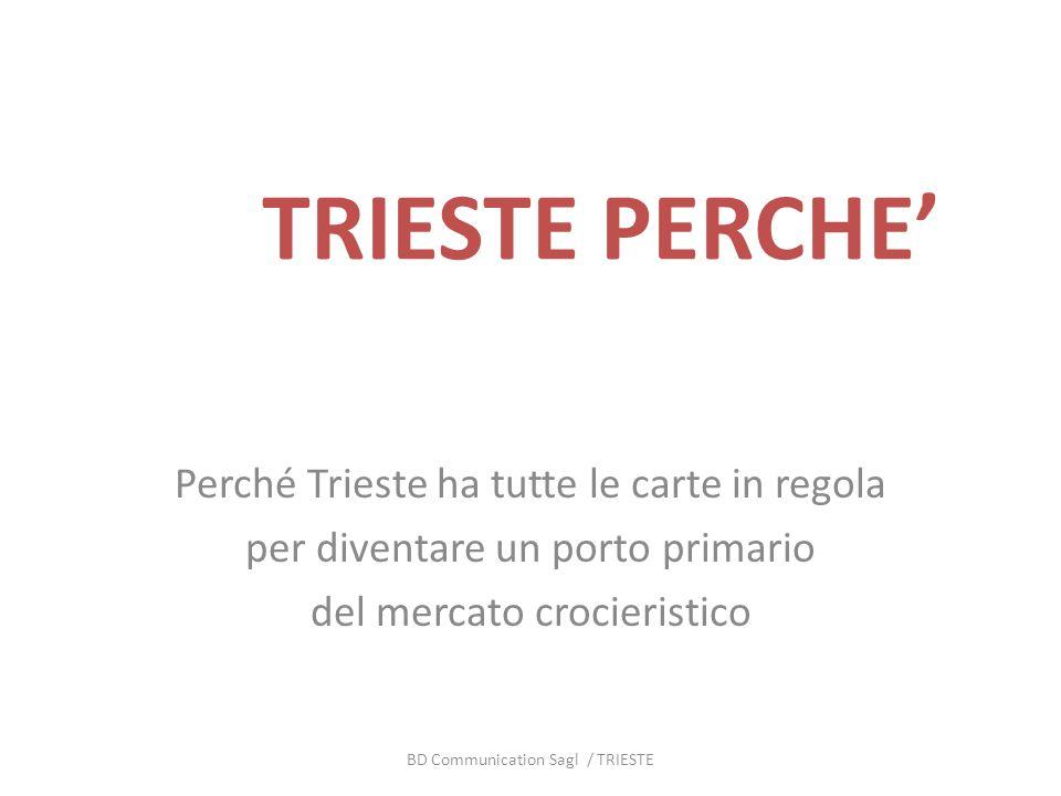 TRIESTE PERCHE Perché Trieste ha tutte le carte in regola per diventare un porto primario del mercato crocieristico BD Communication Sagl / TRIESTE