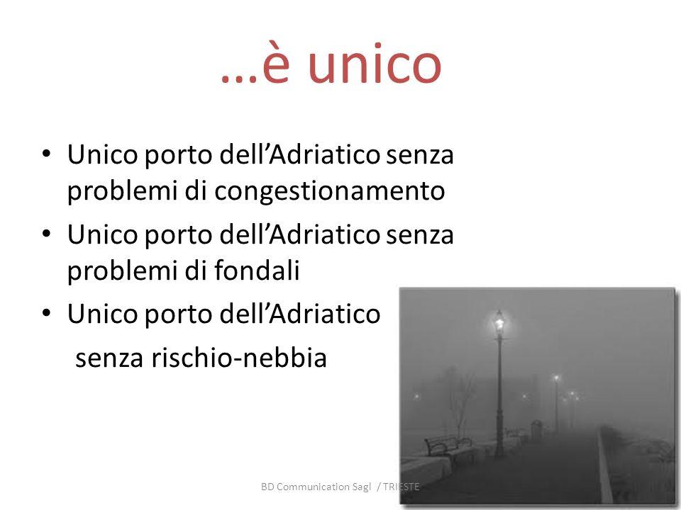 …è unico Unico porto dellAdriatico senza problemi di congestionamento Unico porto dellAdriatico senza problemi di fondali Unico porto dellAdriatico se