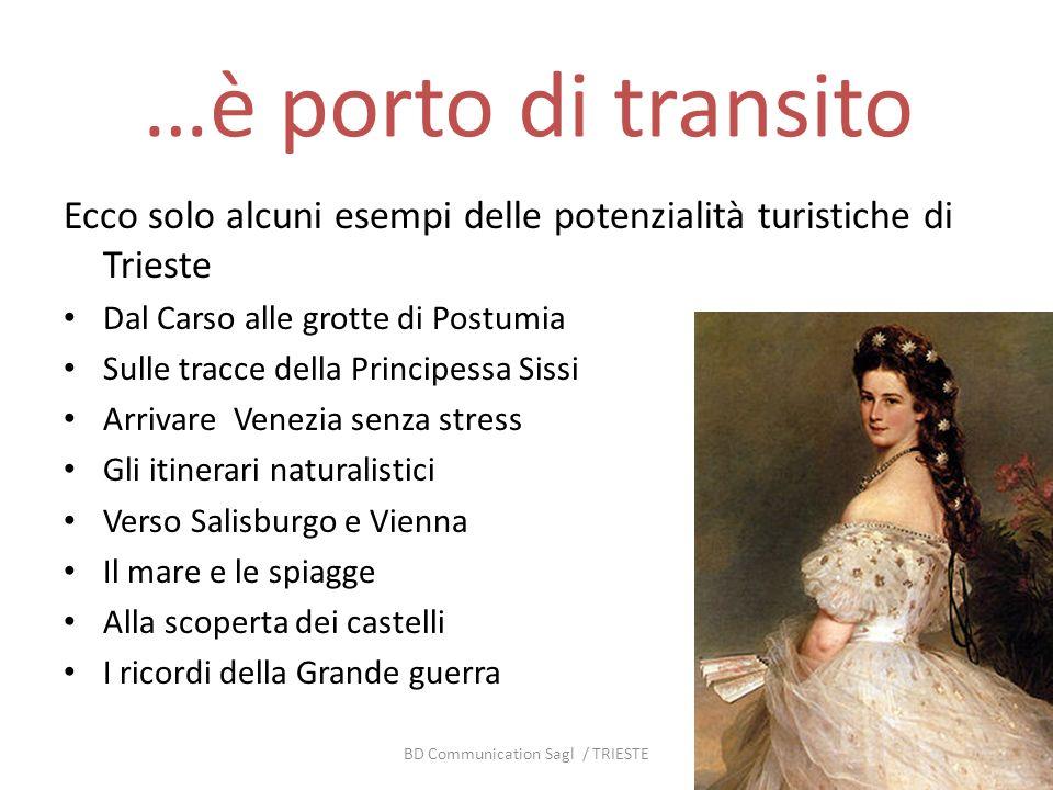 …è porto di transito Ecco solo alcuni esempi delle potenzialità turistiche di Trieste Dal Carso alle grotte di Postumia Sulle tracce della Principessa