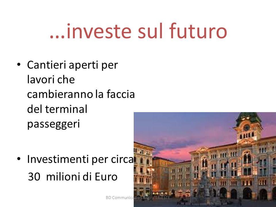 … investe sul futuro Cantieri aperti per lavori che cambieranno la faccia del terminal passeggeri Investimenti per circa 30 milioni di Euro BD Communication Sagl / TRIESTE