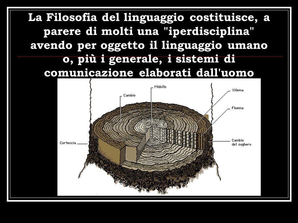 La Filosofia del linguaggio costituisce, a parere di molti una