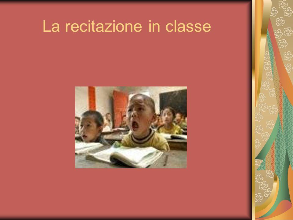 La recitazione in classe