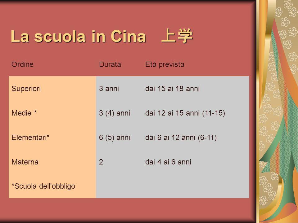 La scuola in Cina La scuola in Cina a.s.