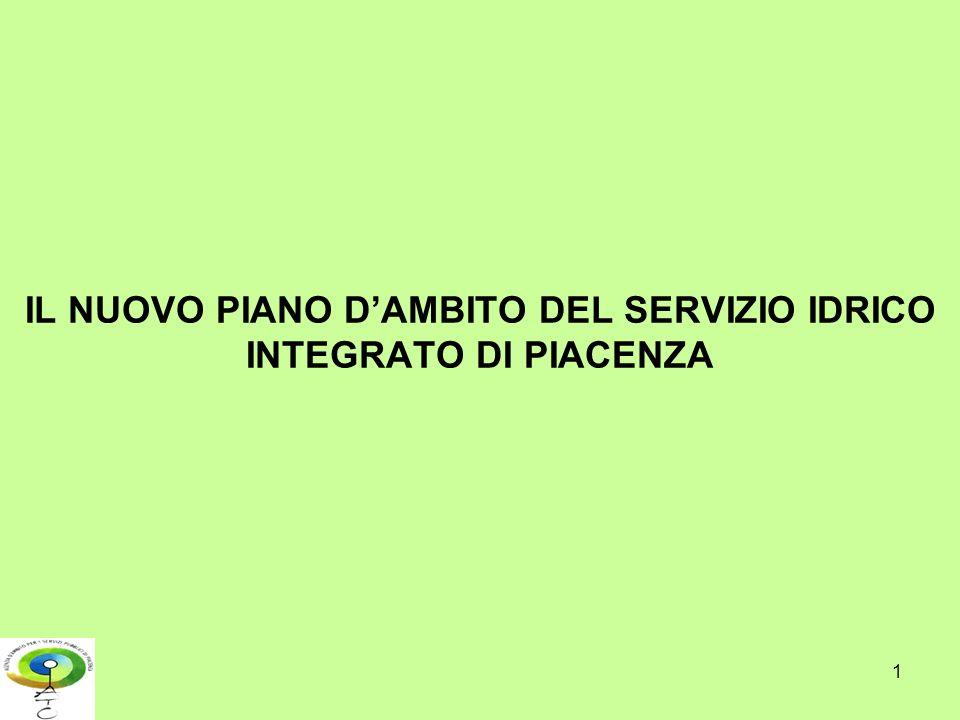 1 IL NUOVO PIANO DAMBITO DEL SERVIZIO IDRICO INTEGRATO DI PIACENZA
