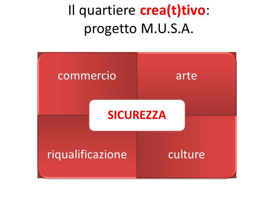 Il quartiere crea(t)tivo: progetto M.U.S.A. commercioarte riqualificazioneculture SICUREZZA