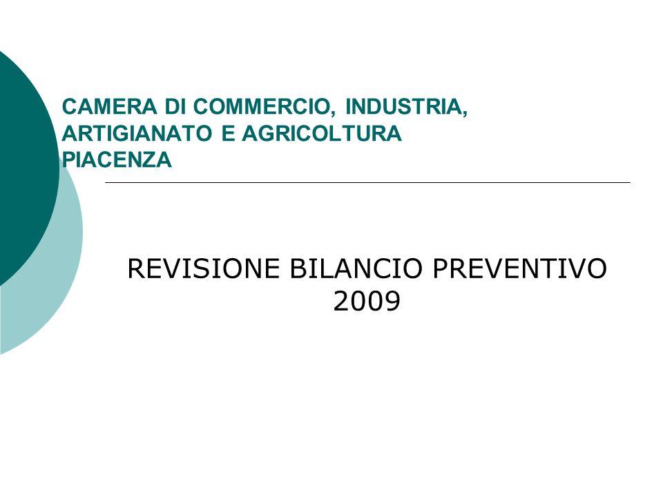 CAMERA DI COMMERCIO, INDUSTRIA, ARTIGIANATO E AGRICOLTURA PIACENZA REVISIONE BILANCIO PREVENTIVO 2009