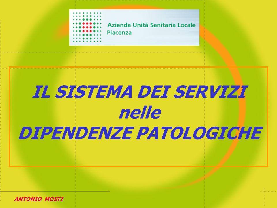 SISTEMA DEI SERVIZI DIP.PAT. PROGRAMMA DIPENDENZE PATOLOGICHE Associazione CeIS La Ricerca