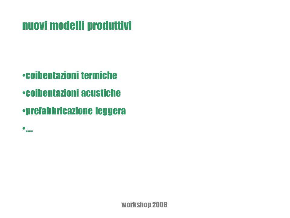 nuovi modelli produttivi coibentazioni termiche coibentazioni acustiche prefabbricazione leggera ….