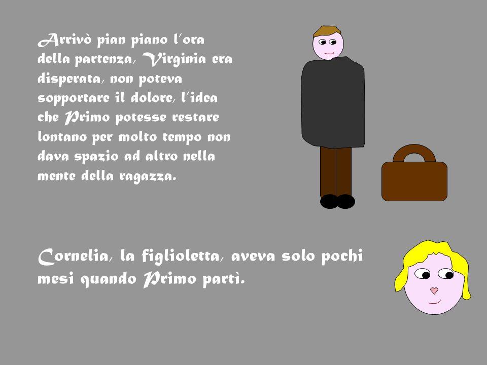 Dopo due settimane dalla partenza del marito Virginia scoprì di essere di nuovo incinta e dopo nove mesi, quando ormai si era abituata allassenza di Primo, nacque un maschietto: laveva chiamato Piero.