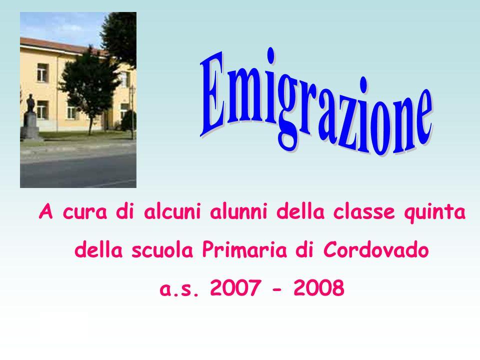 A cura di alcuni alunni della classe quinta della scuola Primaria di Cordovado a.s. 2007 - 2008