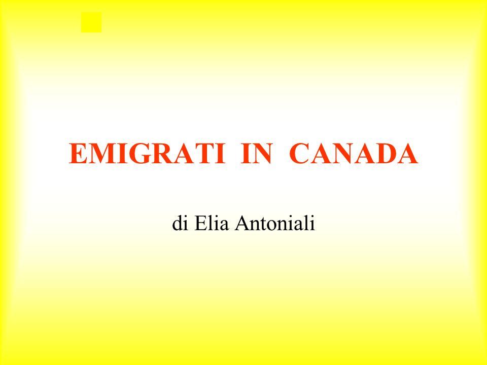 Un uomo di nome Franco di quarantadue anni, sposato con Anna e con un figlio di nome Gianluigi di nove anni emigrarono in Canada nella città di Tunder Bay, per problemi di lavoro.