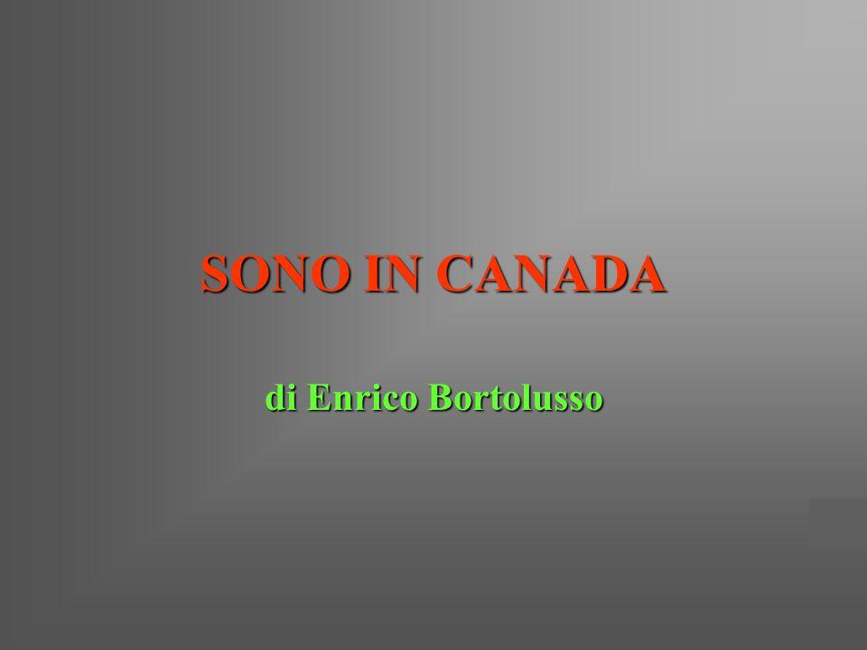 SONO IN CANADA di Enrico Bortolusso
