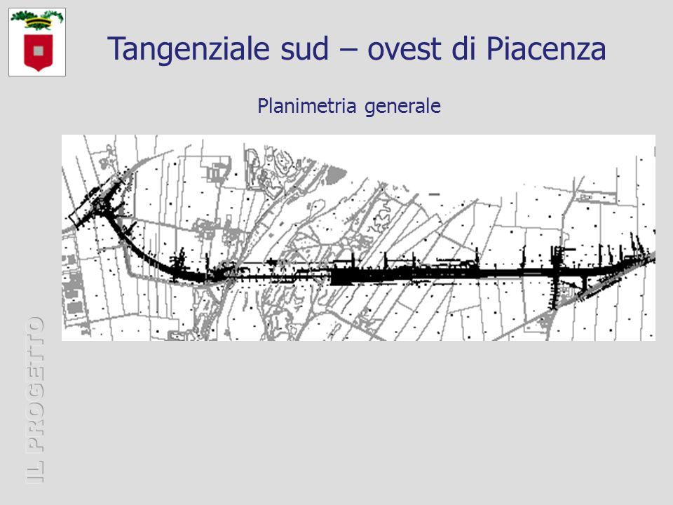 Planimetria generale Tangenziale sud – ovest di Piacenza