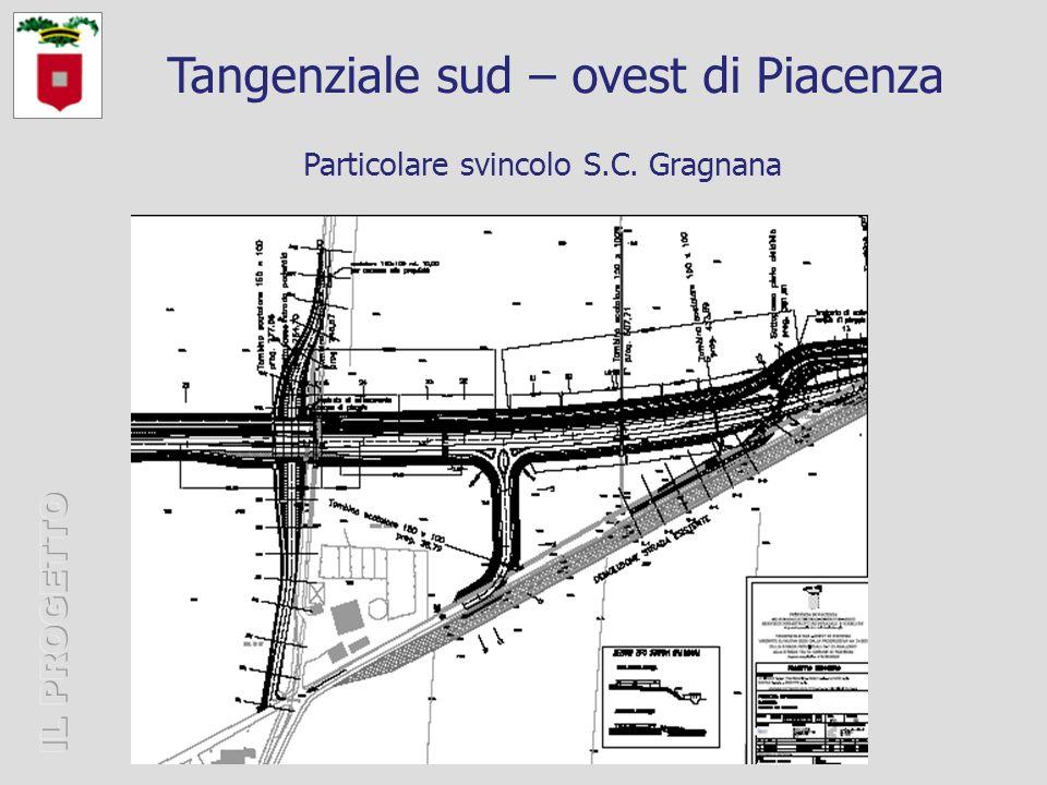 Particolare svincolo S.C. Gragnana Tangenziale sud – ovest di Piacenza