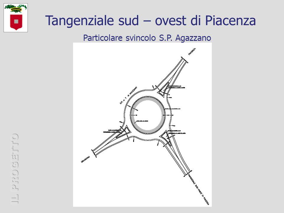 Particolare svincolo S.P. Agazzano Tangenziale sud – ovest di Piacenza