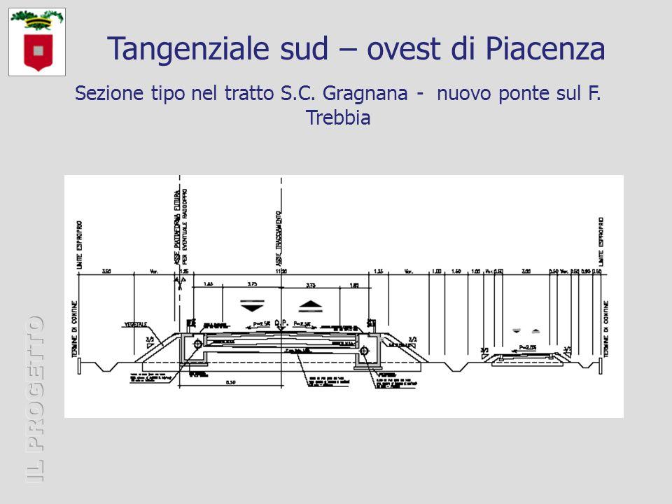 Sezione tipo nel tratto S.C. Gragnana - nuovo ponte sul F.