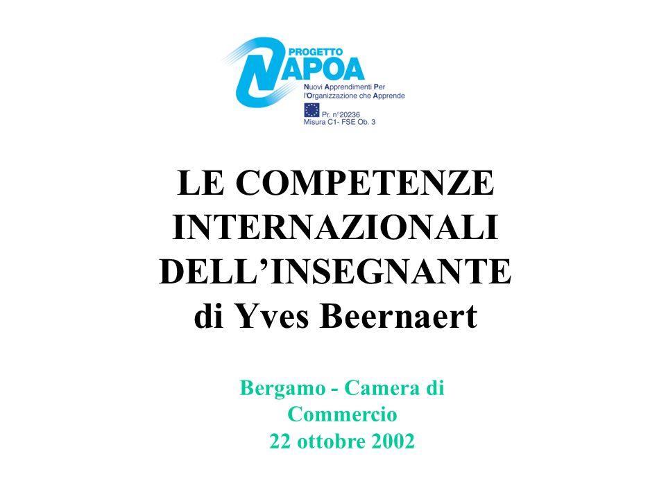 LE COMPETENZE INTERNAZIONALI DELLINSEGNANTE di Yves Beernaert Bergamo - Camera di Commercio 22 ottobre 2002